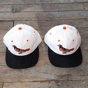 Vintage STARTER Baltimore Orioles snapback hats